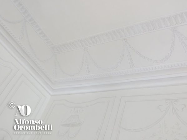 Alta decorazione murale: white empire room