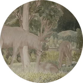 Cervi: decorazione murale