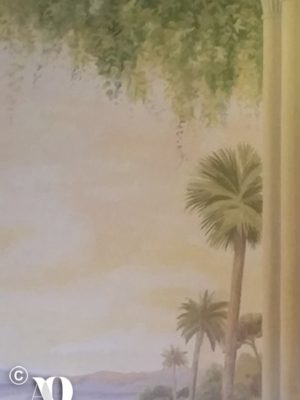 wall decoration: tropical landscape
