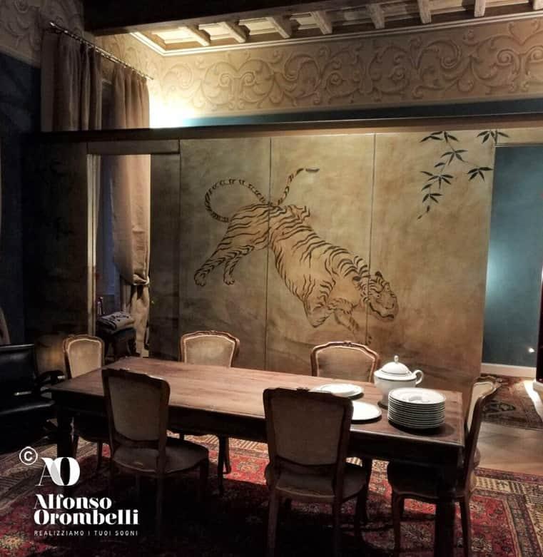 Alta Decorazione murale: tigre