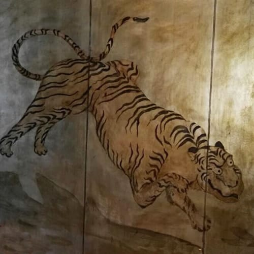 Decorazione murale: tigre orientale