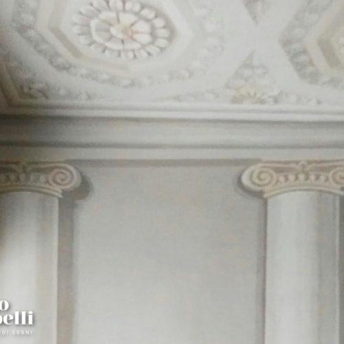 Alta Decorazione colonne e cassettoni ottagonali