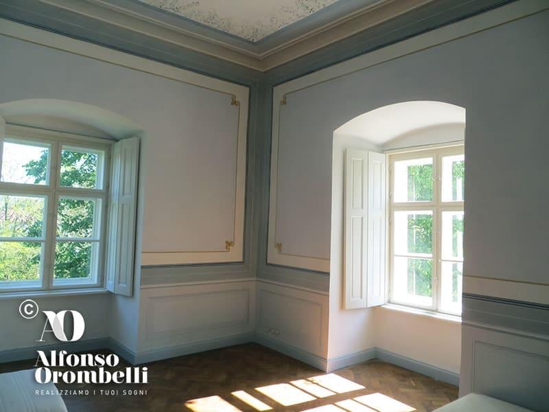 Alta decorazione murale stile impero alfonso orombelli - Decorazione murale ...