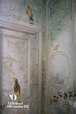 Alta decorazione murale voliera, dettaglio