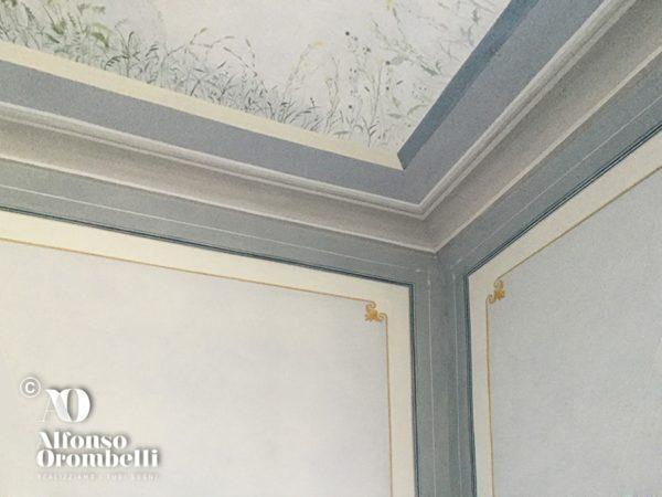 Decorazione murale: cornice dettaglio