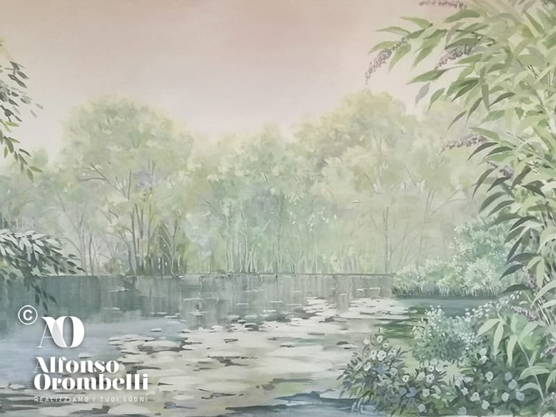 Alta decorazione: forest landscape detail