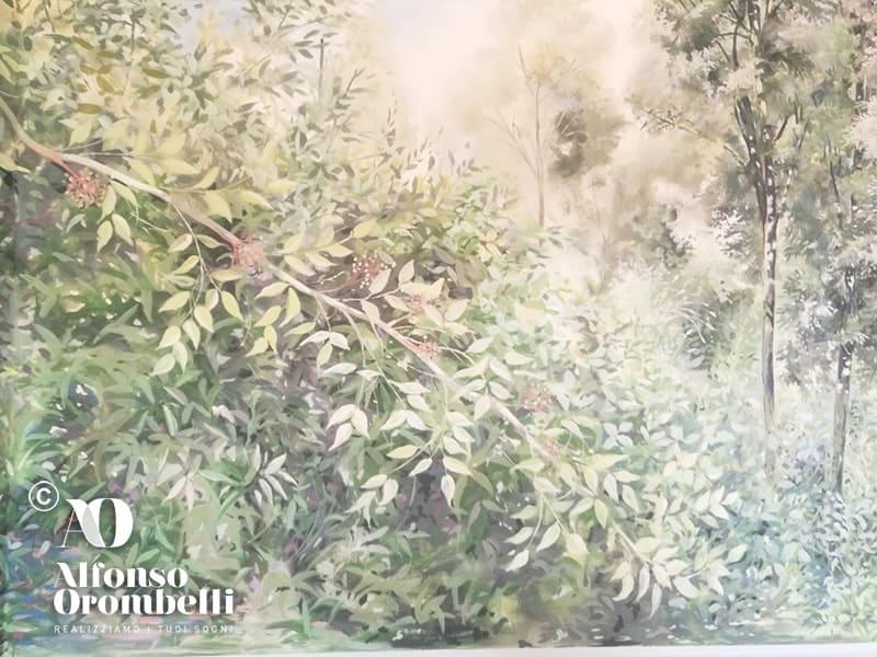 Alta decorazione murale, dettaglio