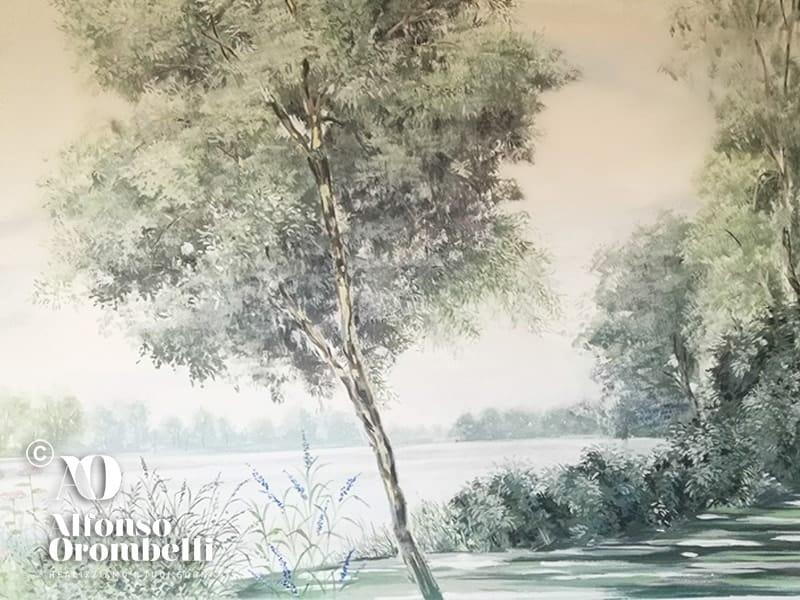 Alta decorazione, paesaggio sul Danubio