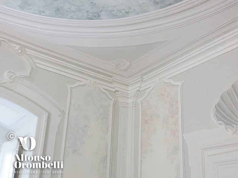 Alta Decorazione murale: conchiglia: ceiling: baroque ornament
