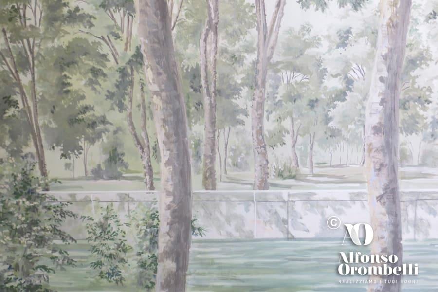 Sala boschereccia: tree details
