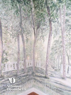 Alta decorazione murale: sala boschereccia