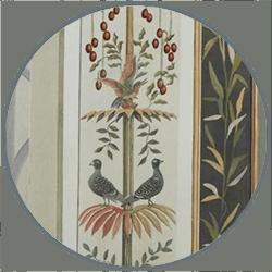 Alta decorazione murale, uccelli