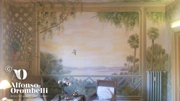 Alta Decorazione murale, paesaggio tropicale