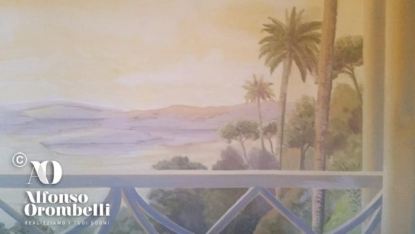 high mural decoration: tropical landscape
