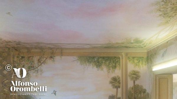 Paesaggio tropicale: alta decorazione murale